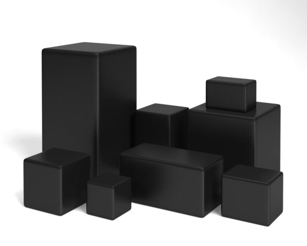 Vinyl foam filled cubes are compressible used to prevent air leaks between the servers and server racks.