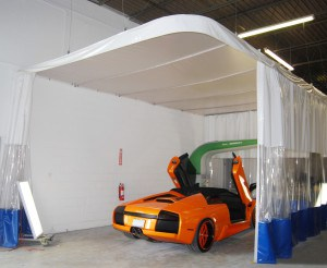 Autobody Enclosures are a great way to contain debris and protect employees.