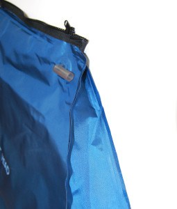 blue inflatable bag with tubing