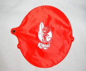 orange inflatable float with Kingii logo